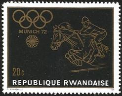 V) 1972 RWANDA, 20TH SUMMER OLYMPIC GAMES, MUNICH, MNH - Rwanda