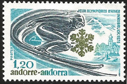 V) 1976 ANDORRA, 12TH WINTER OLYMPIC GAMES, INNSBRUCK, AUSTRIA, MNH - Stamps