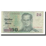 Billet, Thaïlande, 20 Baht, Undated (2003), KM:109, TTB - Thailand