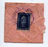 Marca Monopolio Di Stato Su Busta Pietrine, Timbro, Vedi Fotografie, 1930-40 - Revenue Stamps