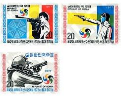 Ref. 27311 * MNH * - SOUTH KOREA. 1977. 42 SHOOTING WORLD CUP . 42 CAMPEONATOS DEL MUNDO DE TIRO. - Tiro (armi)