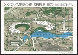 V) 1972 GERMANY, MUNICH OLYMPIC GAMES, MNH - [7] Federal Republic