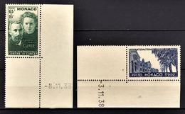 MONACO 1938 / 1941 - SERIE  Y.T. N° 167 ET 168  -  NEUFS** - Neufs