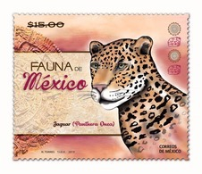 2019 MEXICO JAGUAR FAUNA STAMP MNH - Mexique