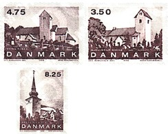 Ref. 96342 * MNH * - DENMARK. 1990. CHURCHES IN JUTLAND . IGLESIAS EN JUTLAND - Neufs
