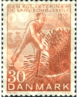 Ref. 143568 * MNH * - DENMARK. 1958. CENTENARY OF THE VETERINARY AND AGRICULTURAL COLLEGE . CENTENARIO DE LA ESCUELA DE - Neufs