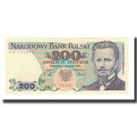 Billet, Pologne, 200 Zlotych, 1988, 1988-12-01, KM:144c, NEUF - Pologne