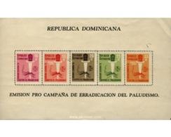 Ref. 54723 * MNH * - DOMINICANA. 1962. MALARIA ERADICATION . ERRADICACION DE LA MALARIA - Dominican Republic