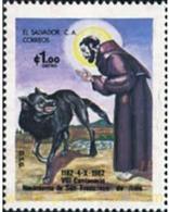 Ref. 30092 * MNH * - EL SALVADOR. 1982. 800th ANNIVERSARY OF THE BIRTH OF ST. FRANCIS OF ASSISI . 800 ANIVERSARIO DEL NA - El Salvador