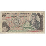 Billet, Colombie, 20 Pesos Oro, 1966, 1966-10-12, KM:409A, TB - Colombia