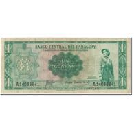 Billet, Paraguay, 1 Guarani, 1963, Undated (1963), KM:193b, TB - Paraguay