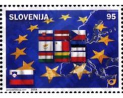 Ref. 145624 * MNH * - SLOVENIA. 2004. EUROPEAN UNION AMPLIATION . AMPLIACION DE LA UNION EUROPEA - Banderas