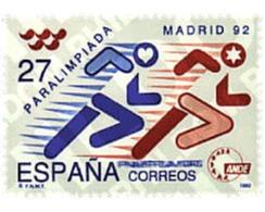 Ref. 85892 * MNH * - SPAIN. 1992. PARALYMPICS MADRID 92 . PARALIMPIADA MADRID 92 - Postzegels