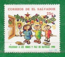 4 El Salvador 1990 Navidad- Yvert 1096 Ss Mint - El Salvador