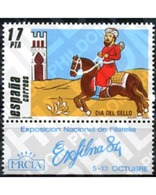 Ref. 210936 * MNH * - SPAIN. 1984. STAMP DAY . DIA DEL SELLO - Chevaux