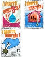 Ref. 85020 * MNH * - SPAIN. 1979. ENERGY SAVING . AHORRO DE ENERGIA - Auto's