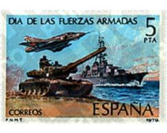 Ref. 85028 * MNH * - SPAIN. 1979. DAY OF THE ARMY . DIA DE LAS FUERZAS ARMADAS - Bateaux
