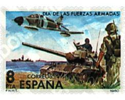 Ref. 85046 * MNH * - SPAIN. 1980. DAY OF THE ARMY . DIA DE LAS FUERZAS ARMADAS - Bateaux