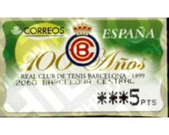 Ref. 83175 * MNH * - SPAIN. 1999. CENTENARY OF THE ROYAL TENNIS CLUB OF BARCELONA . CENTENARIO DEL REAL CLUB DE TENIS DE - Tennis
