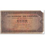 Billet, Espagne, 100 Pesetas, 1938, 1938-05-20, KM:113a, AB - [ 3] 1936-1975 : Regime Di Franco
