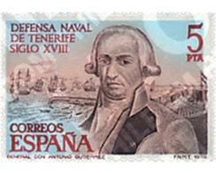 Ref. 85032 * MNH * - SPAIN. 1979. TENERIFE NAVAL DEFENSE . DEFENSA NAVAL DE TENERIFE - Bateaux