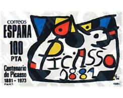 Ref. 85054 * MNH * - SPAIN. 1981. CENTENARY OF PABLO RUIZ PICASSO . CENTENARIO DE PABLO RUIZ PICASSO - Unclassified