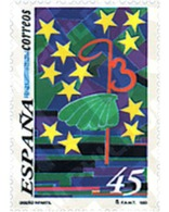 Ref. 85652 * MNH * - SPAIN. 1993. CHILDREN'S DRAWING . DISEÑO INFANTIL - Vissen