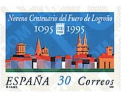 Ref. 85469 * MNH * - SPAIN. 1995. 9th CENTENARY OF THE FUERO OF LOGROÑO . 9 CENTENARIO DEL FUERO DE LOGROÑO - 1931-Aujourd'hui: II. République - ....Juan Carlos I