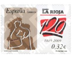 Ref. 221622 * MNH * - SPAIN. 2009. CENTENARY NEWSPAPERS - DIARIO DE LA RIOJA . DIARIOS CENTENARIOS - DIARIO DE LA RIOJA - 2001-10 Neufs