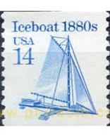 Ref. 311135 * MNH * - UNITED STATES. 1985. SAIL-SLEDGE ON ICE . TRINEO A VELA SOBRE HIELO - United States