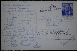 O) 1957 AUSTRIA,INSUFFICIENT ADDRESS, CASTLE- ARCHITECTURE -THE MINT HALL TYROL - SCT 624. POSTAL CARD BADEN BADEN, TO G - Other