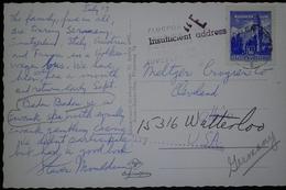 O) 1957 AUSTRIA,INSUFFICIENT ADDRESS, CASTLE- ARCHITECTURE -THE MINT HALL TYROL - SCT 624. POSTAL CARD BADEN BADEN, TO G - Austria