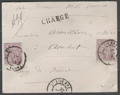 """Loire:  N°115 X2ex. Sur Petite LSC """"chargé"""" De St ETIENNE De 1902 - Marcophilie (Lettres)"""