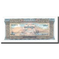 Billet, Cambodge, 50 Riels, UNDATED (1956-75), KM:7d, NEUF - Cambodge