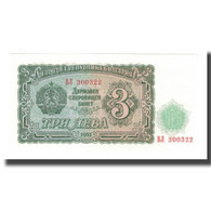 Billet, Bulgarie, 3 Leva, 1951, KM:81a, NEUF - Bulgarie