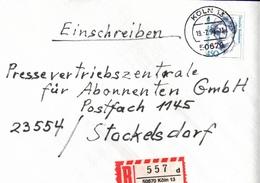 ! 8 Einschreiben 2x Mit Rückschein, 1994-97, R-Zettel Aus Köln, 50670, 50765, 51107, 51109, 50968 - [7] République Fédérale