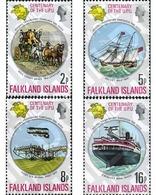 Ref. 86834 * MNH * - FALKLAND Islands. 1974. CENTENARY OF UNIVERSAL POSTAL UNION . CENTENARIO DE LA UNION POSTAL UNIVERS - Timbres