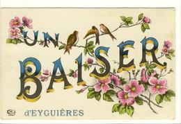 Carte Postale Ancienne Fantaisie Eyguières - Un Baiser - Eyguieres