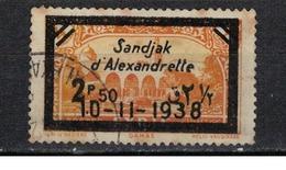 ALEXANDRETTE               N°  YVERT   15 (point Rouille)    OBLITERE       ( Ob  2/63 ) - Alexandrette (1938)