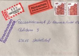 ! 1 Einschreiben Mit Rückschein, R-Zettel, 1996, Aus 53520 Reifferscheid Bei Adenau - BRD