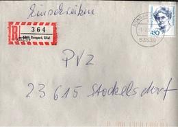 ! 1 Einschreiben Mit Alten R-Zettel, 1994, Aus 53539 Bongard, Eifel, Neue Postleitzahl - BRD