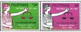 Ref. 313363 * MNH * - PHILIPPINES. 1986. FACULTAD DE DERECHO - Philippines