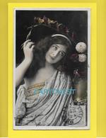 CPA Carte Fantaisie JEUNE FEMME Thème Mode - CHEVEUX COIFFURE ROBE H MANUEL - 1904 - Artistes