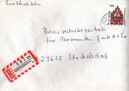 ! 1 Einschreiben  Mit Briefzentrum R-Zettel 1997, Aus 56070, Absender Aus 56651 Brenk, Neue Postleitzahl - [7] Repubblica Federale