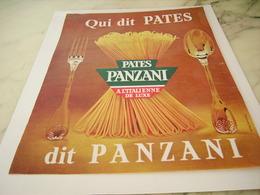 ANCIENNE PUBLICITE QUI DIT PATES  PANZANI 1965 - Otros
