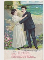 Carte Fantaisie Gaufrée / Couple / Die Lustige Witwe - Paare