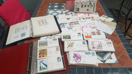Dernier Jour Avant Retrait!A Identifier :+ 400 Documents Enveloppes 1er Jour FDC (+300), Classeurs, AIR MAIL ETC-à Voir - Postzegels