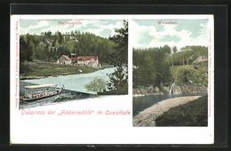 AK Greiffenberg, Gasthaus Finkenmühle Im Queisthale, Blick Zum Wasserfall - Schlesien