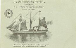 CPA GRANVILLE  MIQUELON SAINT FRANCOIS D ASSISE   3 MATS  OEUVRES DE MER NAVIRE HOPITAL - Granville