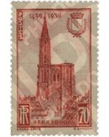 Ref. 247104 * HINGED * - FRANCE. 1939. 5th CENTENARY OF STRASBOURG CATHEDRAL COMPLETION . 5 CENTENARIO DE LA TERMINACION - Sin Clasificación